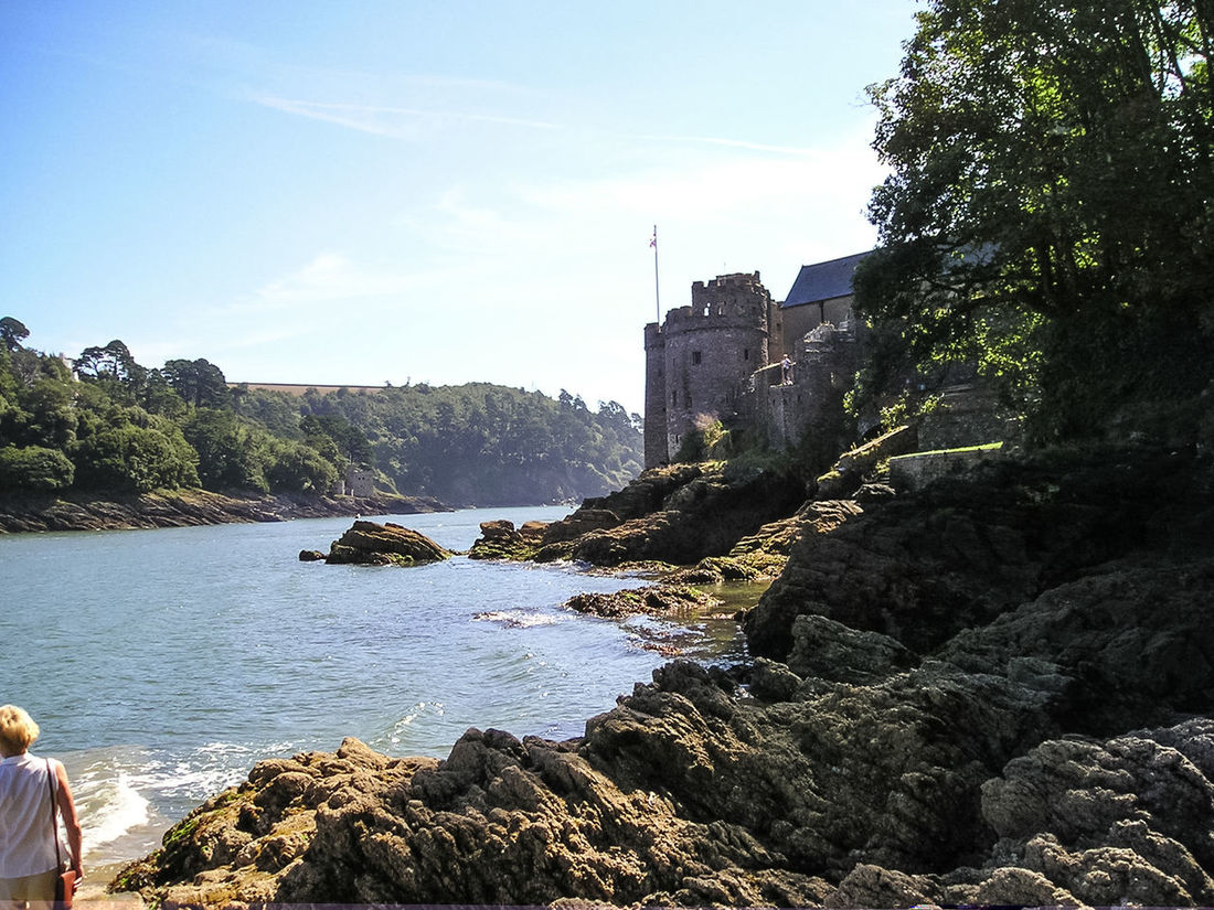Looking towards Dartmouth Castle in South Devon, UK Architecture Beauty In Nature Building Exterior Built Structure Castle Dartmouth Castle Day History Nature No People Outdoors River River Dart Rock - Object Rocks Sky Summer Sunny Travel Destinations Tree Water