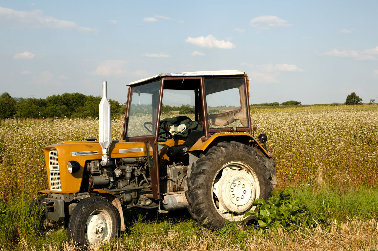 Old Ursus Tractor Tractor Ursus Agricultural Machinery Agriculture Farm Field Rural Scene Tractor