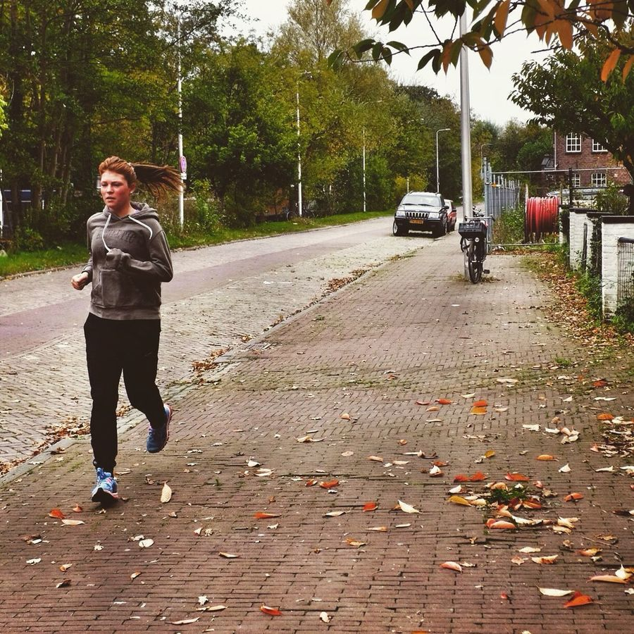 Travel X100S Utrecht The Netherlands Netherlands2014 Autumn October Running Runner People