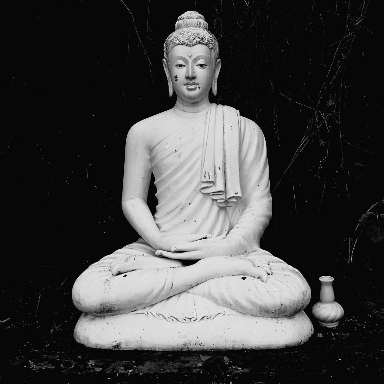Human Representation Religion Material Statue Night Outdoors No Peoplebl Buddhist Monks Buddha Temple Buddist Temple Buddism Buddah Buddha Image Buda Ancient Beauty Ancient Remains Ancientart