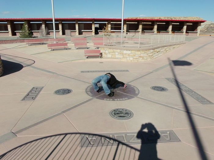 Backbend Over Four Corners Four Corners Monument