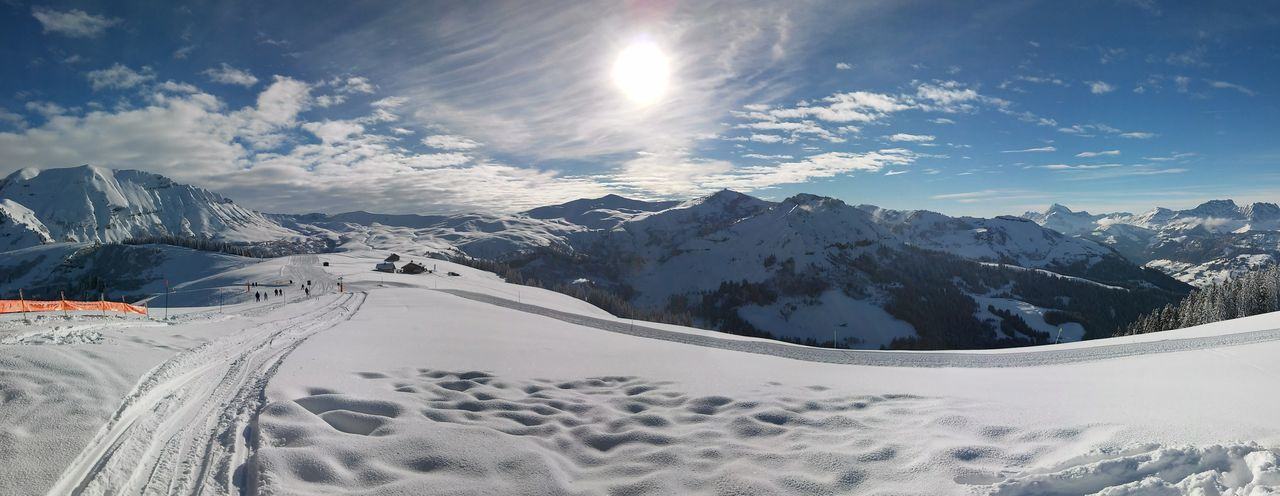 Beauty In Nature Cold Temperature Covering Landscape Mountain Mountain Range No People Saint Gervais Scenics Season  Ski Sky Snow Snow Covered Snowcapped Sun Tranquil Scene Tranquility Weather Winter First Eyeem Photo