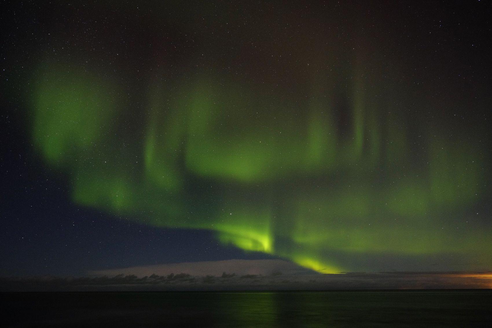 Northern Lights in Gardur , Iceland . Shot on Fujifilm Xt1 21mm February 2015