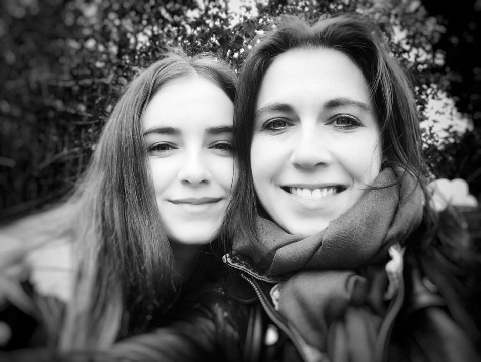 Mother & Daughter Portrait Looking At Camera Smiling Two People Togetherness Friendship Happiness Real People Long Hair My Love Headshot Girls Young Women EyeEmNewHere Fearless And Faithful Black And White Photography Best Team Ever Beauty Motherlove Happiness Resist Love Blackandwhite Photography EyeEm Diversity