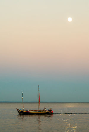 Ship with Moon