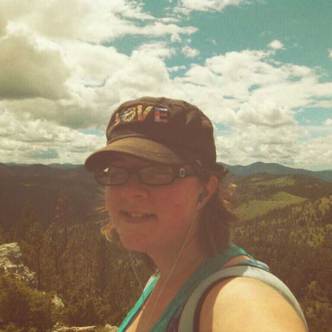 After 2 hours of huffing, puffing, stripping layers off and grumbling I am finally on top of MtHelena and its the most beautiful day! Doingit Hiking Helena montana