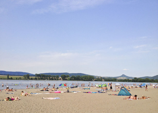 Beach Blue Blue Album Lake Life Is A Beach Nature Outdoors Sky Summer Sunbathing Swimming The Essence Of Summer Vacations Water