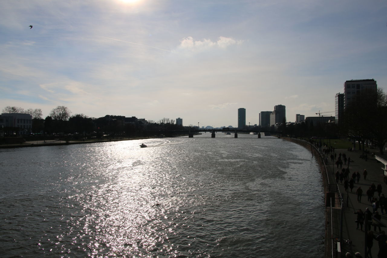 #YBPhotographie Beauty In Nature Tranquility Water No People Day #Frankfurt #Mainufer City