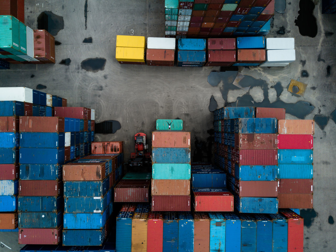 Arrangement Box - Container Business Cargo Container Container Container Day Distribution Warehouse Dronephotography Droneshot Freight Transportation Hamburg Handstand  Indoors  Industry Large Group Of Objects Multi Colored Shipping  Stack Warehouse