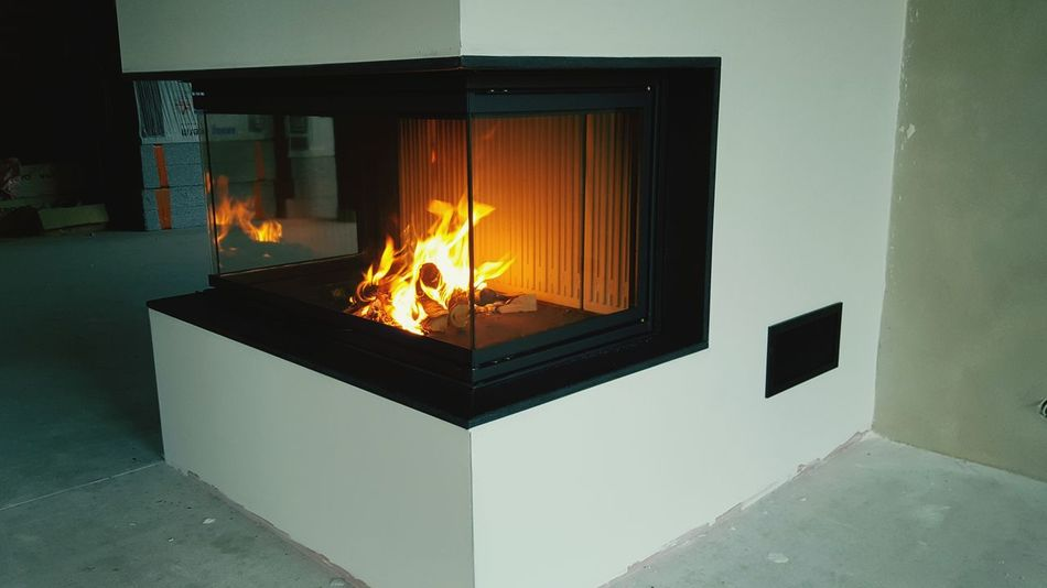 Fireplace Piazzetta Fire Burning Architecture
