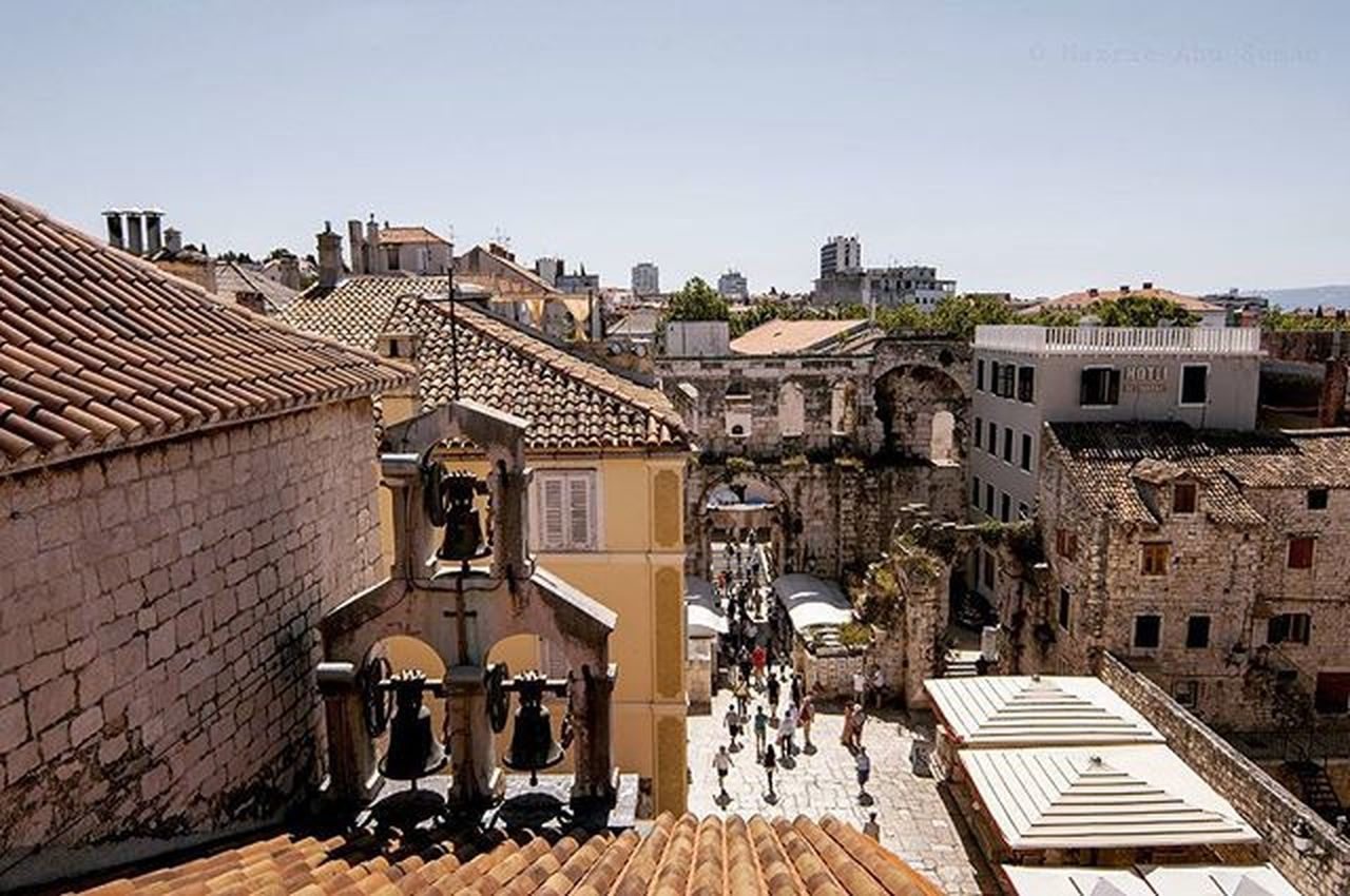 Another view from the balcony over the historical old town Split | Croatia Travel Split Unesco Oldtownsplit