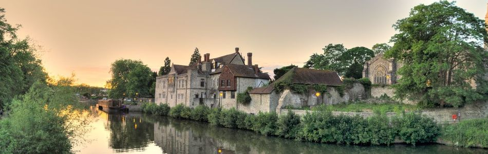 The Archbishop's Palace Medway River Panoramic Photography Panoramic View Panoramic Landscape River River View River Medway Maidstone
