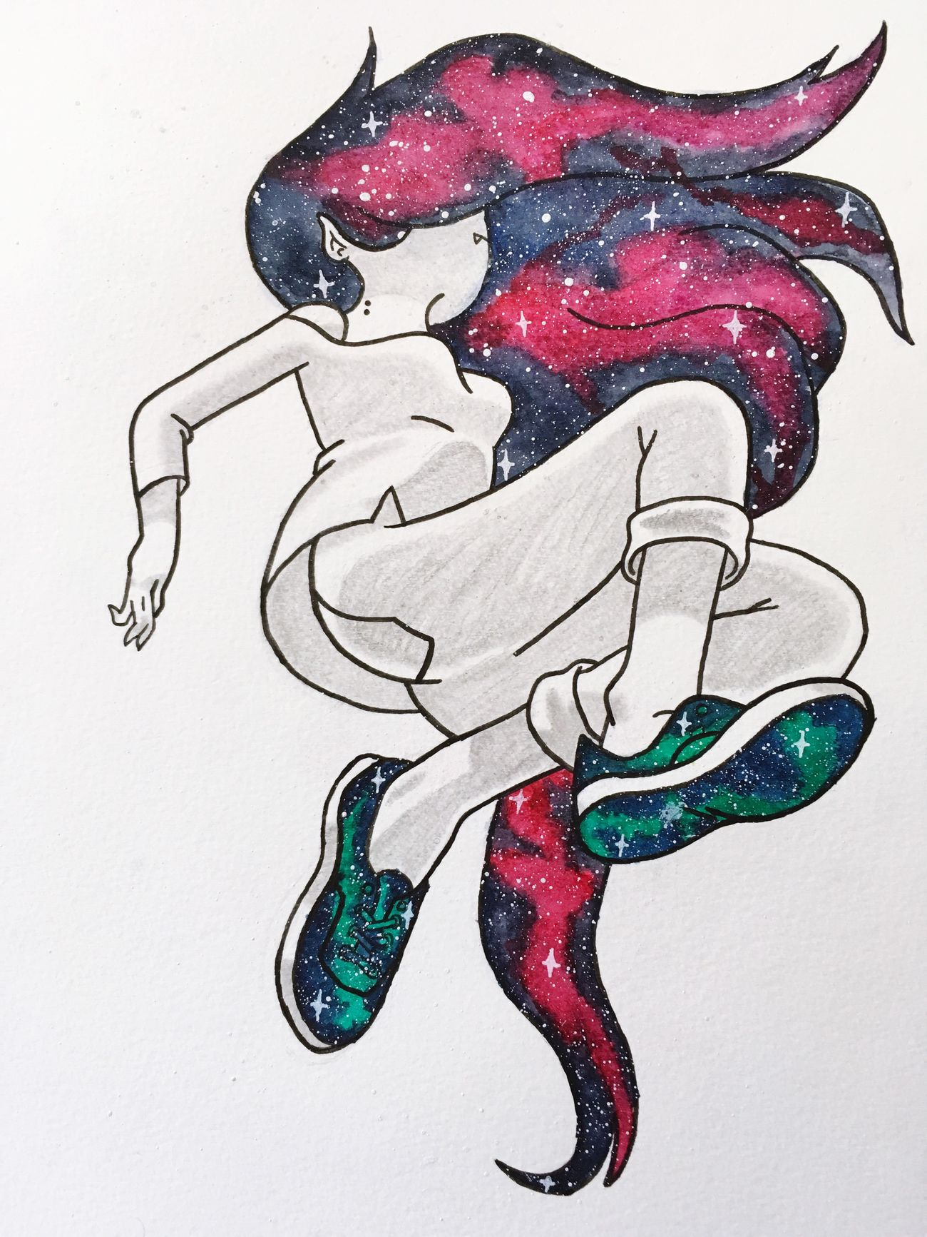 My Drawing Drawing Dessin Dessin Drawing Aquarell Aquarelle Adventure Time Marceline