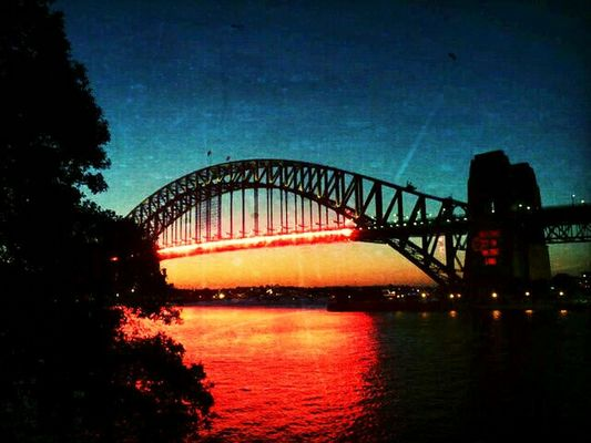 at Harbour Bridge, Sidney by Andreas Zeiser