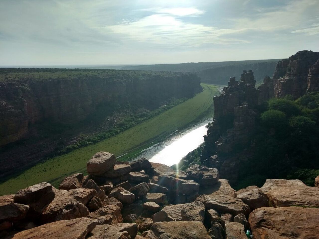 gandikota Water Rock - Object Sky Beauty In Nature Nature River Scenics Day Rock Formation Outdoors Rock Cloud - Sky First Eyeem Photo