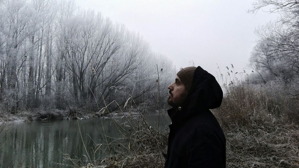 Bro Brother One Person People Only Men Portrait Portraits Guy Guyswithtattoos Guyswithbeards Beard Bearded Beardedmen Beardlover Trees Outdoors Nature Nature Photography Fog Frozen Frost Forest Natureporn Likeforlike Pictureoftheday