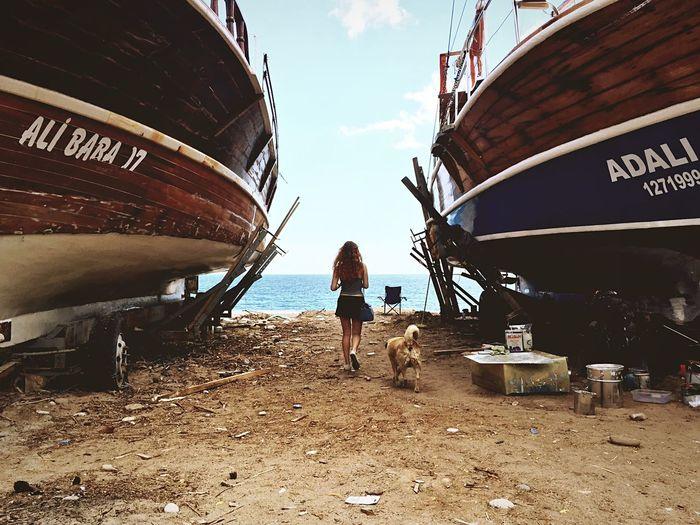 The adventures of Tintin Beach Boats Story Dog Girl Team Adventure Open Edit The Traveler - 2015 EyeEm Awards Adventure Buddies