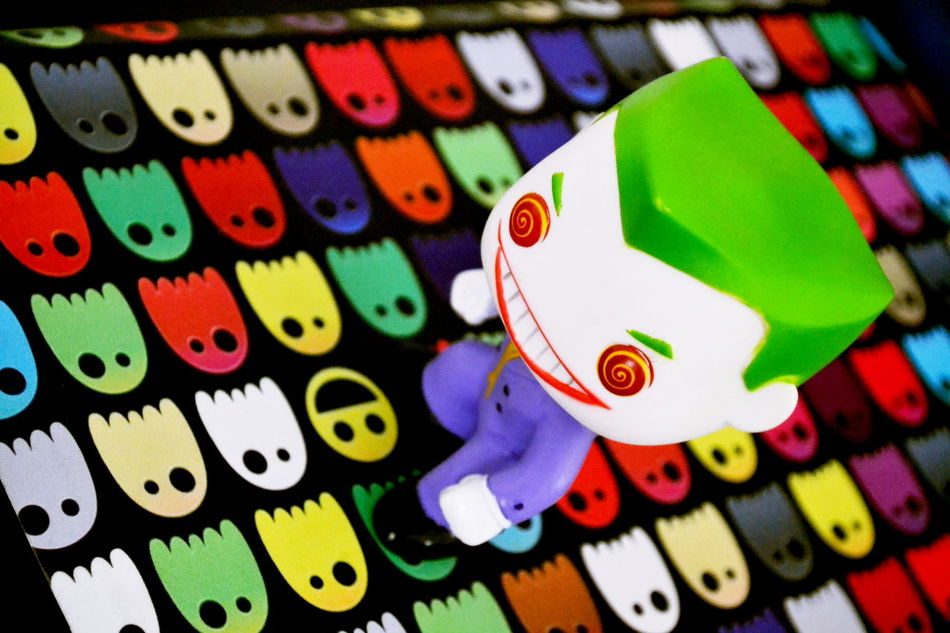 2/365 365 Photos In 2017 Close-up Funko Pop Vinyl Multi Colored Pacman The Joker Toyphotography
