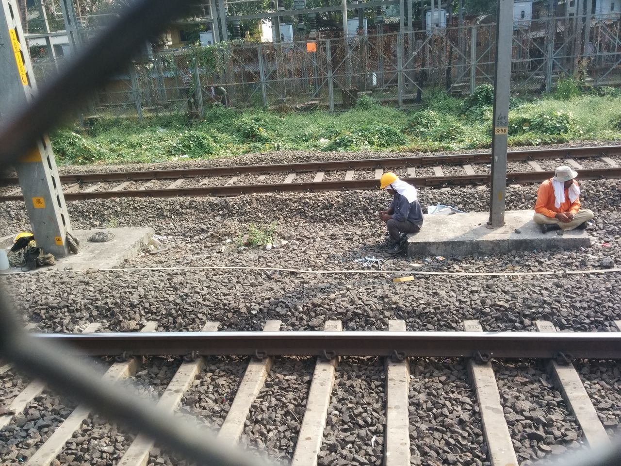 Man At Work On The Railway Track