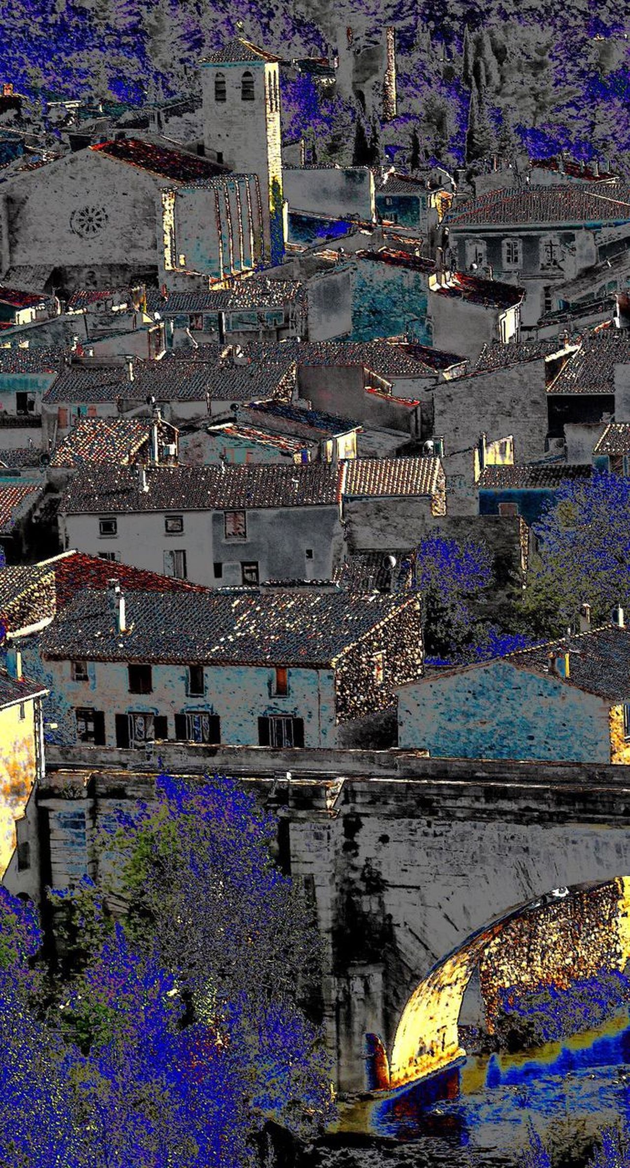 Village Effects & Filters Cityscape Travel Destinations Aerial View High Angle View City Outdoors Urban Skyline Architecture No People Day Lagrasse Aude Occitanie Art Is Everywhere