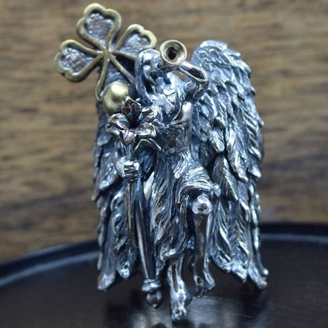 Handmade Jewellery MadetoOrder Oneofakind Ring Japan Feather  Angel Silveraccessories Enjoying Life Hello World