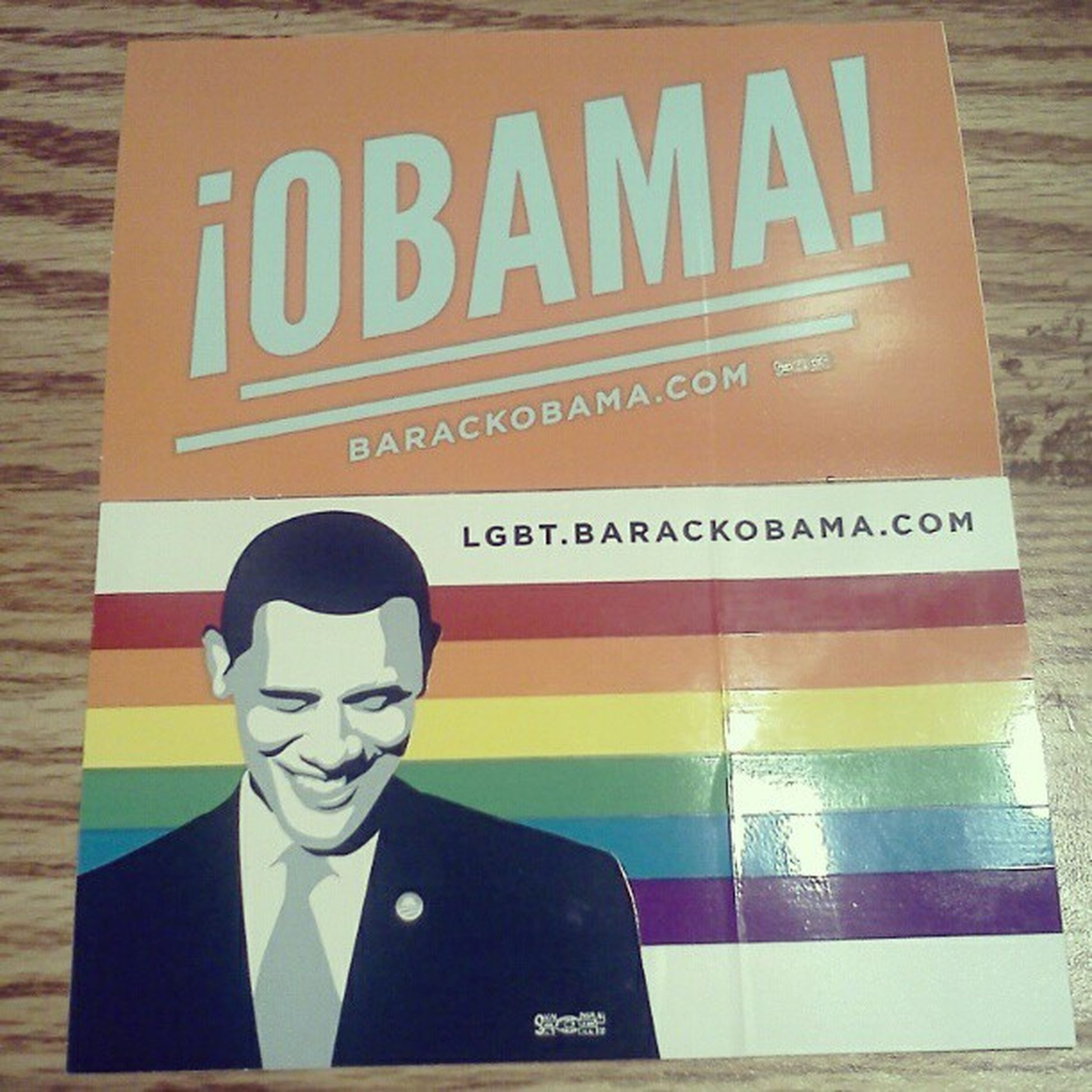 my stickers finally came in! :D <3 Obama2012 Lgbt Rainbow BarrackObama !