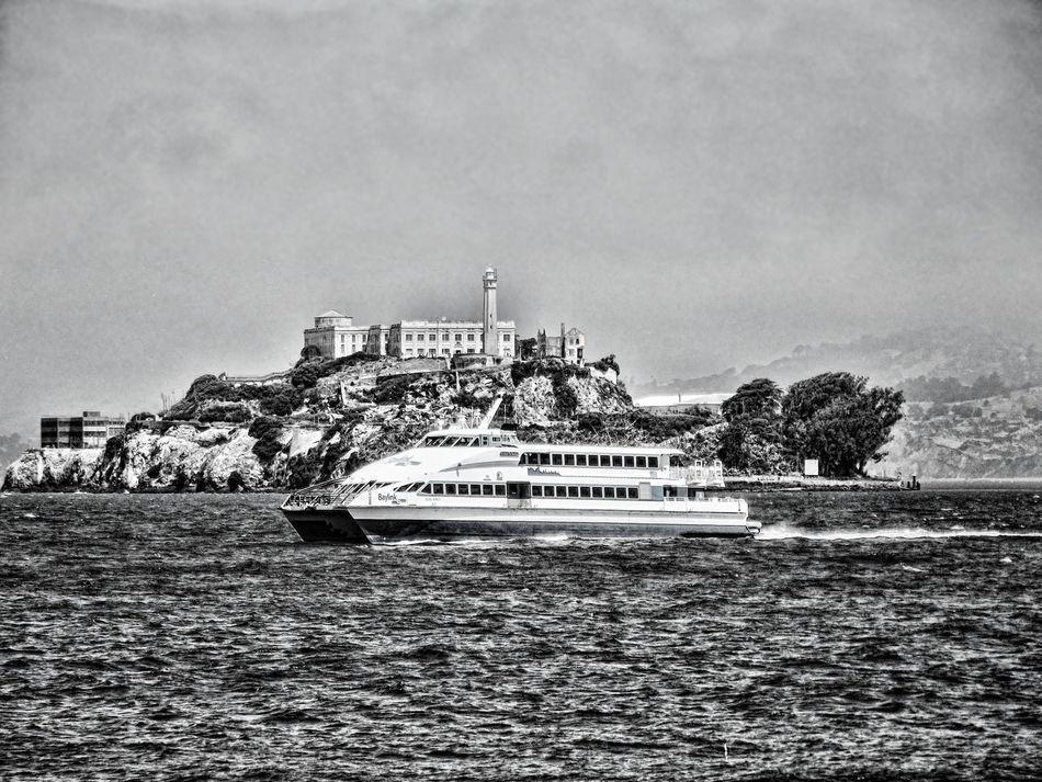 Alcatraz Alcatraz Island Architecture Black & White Black And White Photography Blackandwhite Building Exterior Day Nautical Vessel No People Outdoors San Francisco SanFranciscoBay Sanfransisco Sea Sky Water
