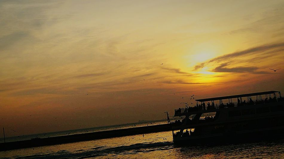 Beauty In Nature Sunset Sea Cloud - Sky Water Sky Istanbul Vapur Ve İstanbul Landscape Day