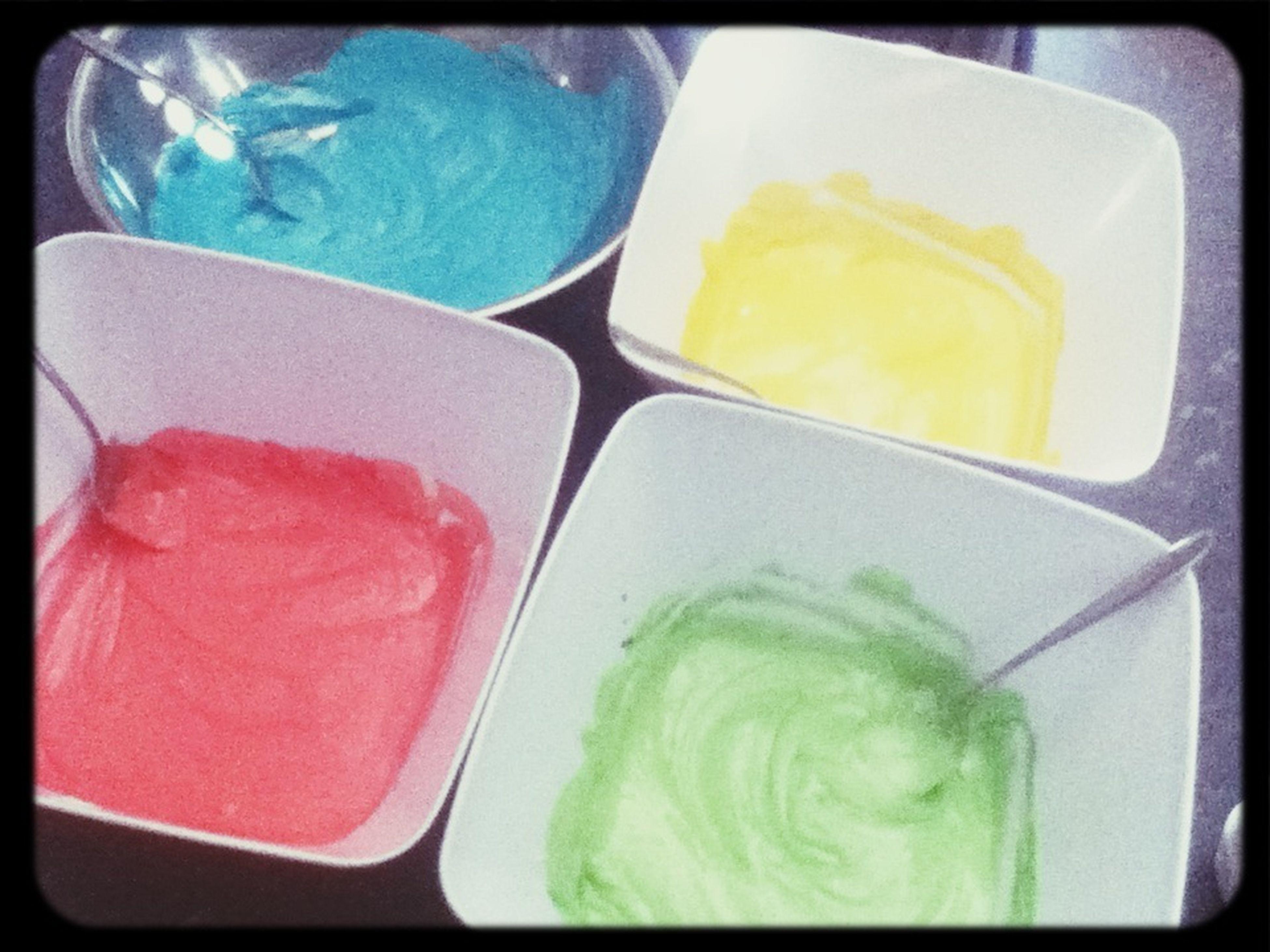 Cake Mixture. Pretty. Colours.