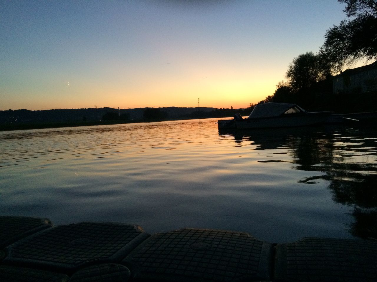 Sunset Evening Elbe River River View Water Reflection Water Surface Nature No People NoEditNoFilter Noedit Nofilter
