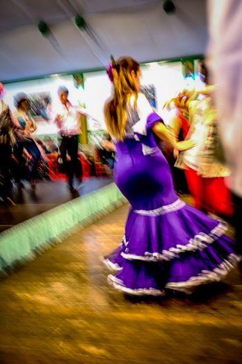 Sevilla Feriadesevilla Feriadeabril Bailadora Sevillanas Blurred Motion Leisure Activity Women Feast Fair Festival Hello World JustFun The Street Photographer - 2017 EyeEm Awards