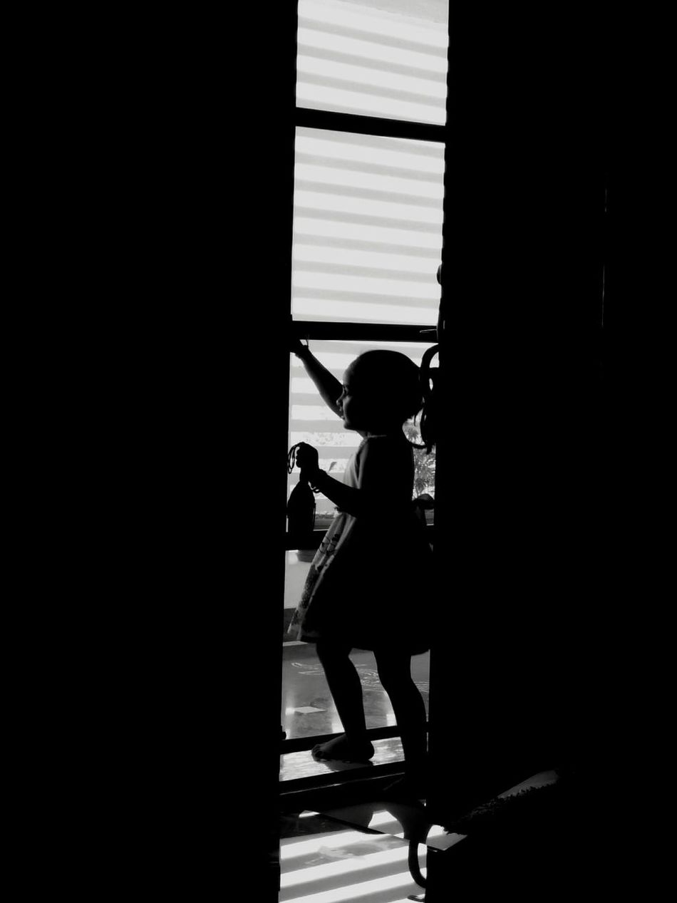 Wait with a pure heart... Long Goodbye EyeEmNewHere Mobile Photography NoEdits  Natural Light Indoors  Child Welcome To Black Waiting Love Silhouette