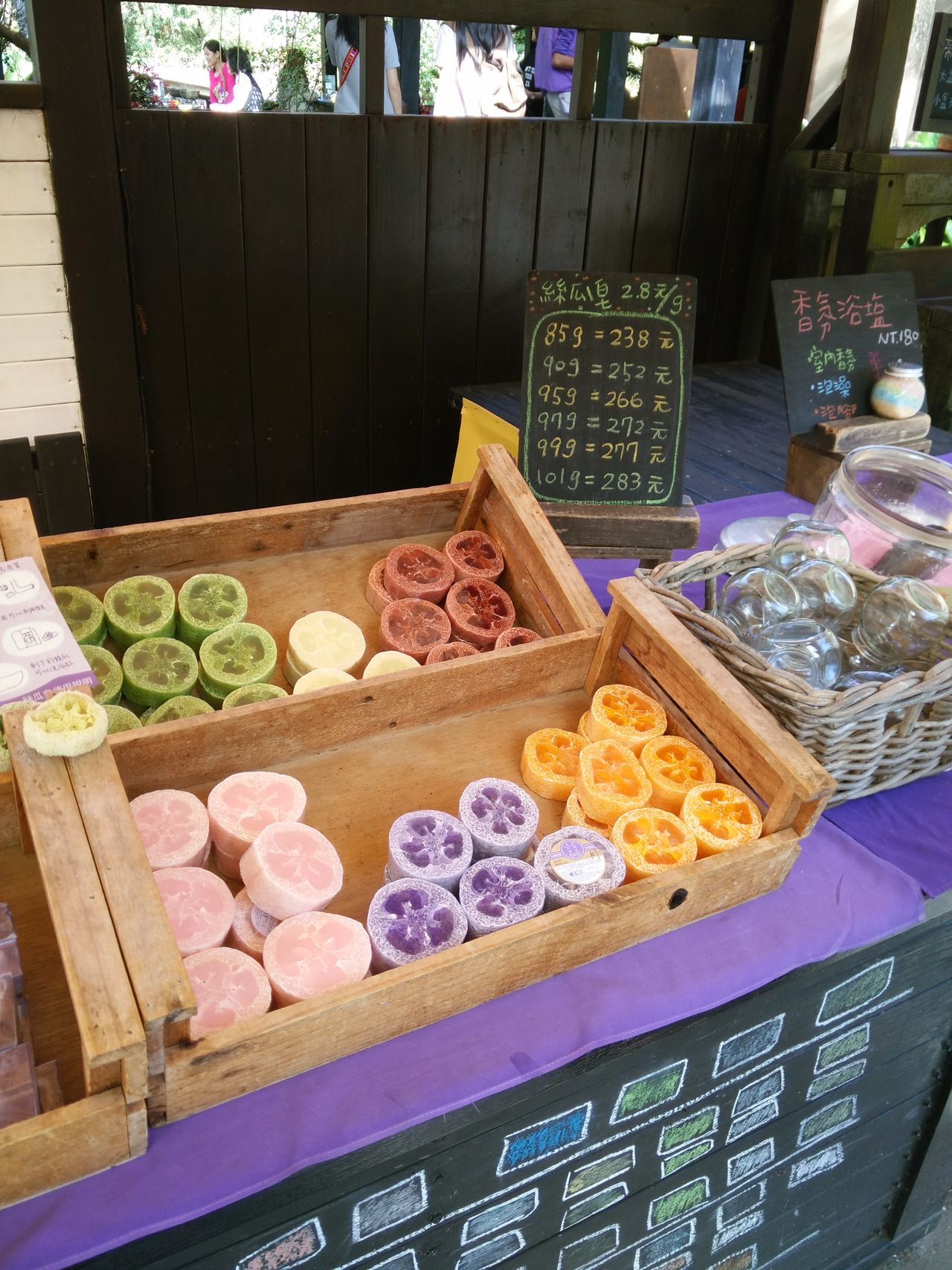 Retail  Market No People Price Tag Outdoors Market Stall Handmade Soap Soap Loofah Taichung Lavender Farm Handmade Soap Loofah Colorful Soaps