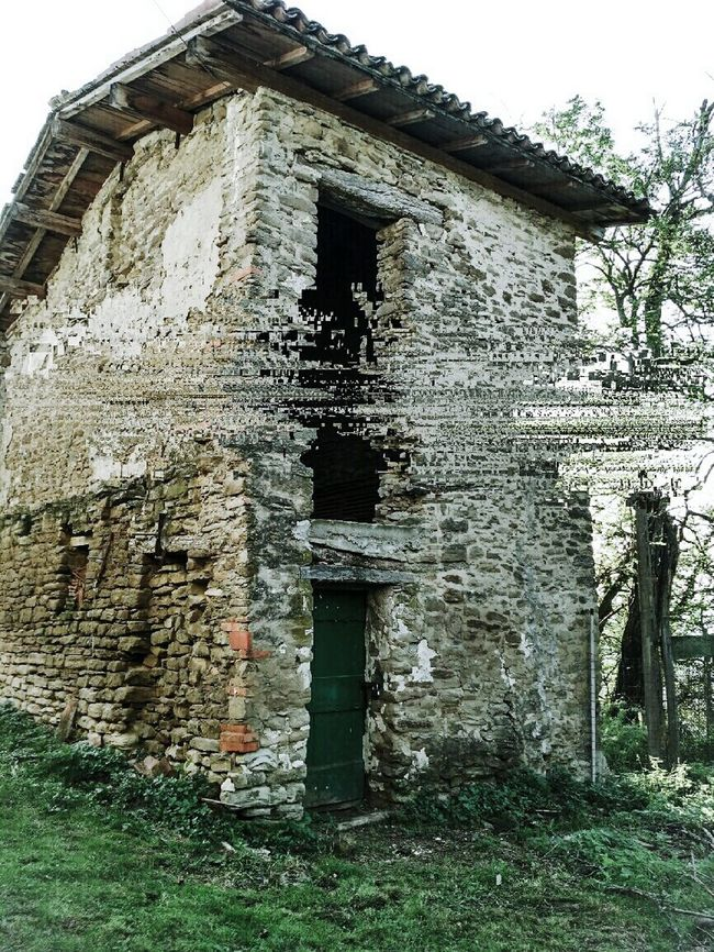 Architecture Damaged Deterioration Outdoors Ruined Exterior Low Angle View Abandoned Run-down Old Built Structure Warmhole Science Fiction Abstract Glitchartistscollective Glitch Art Built Structure Architecture Building Exterior Abandoned Window Old Low Angle View Obsolete Damaged