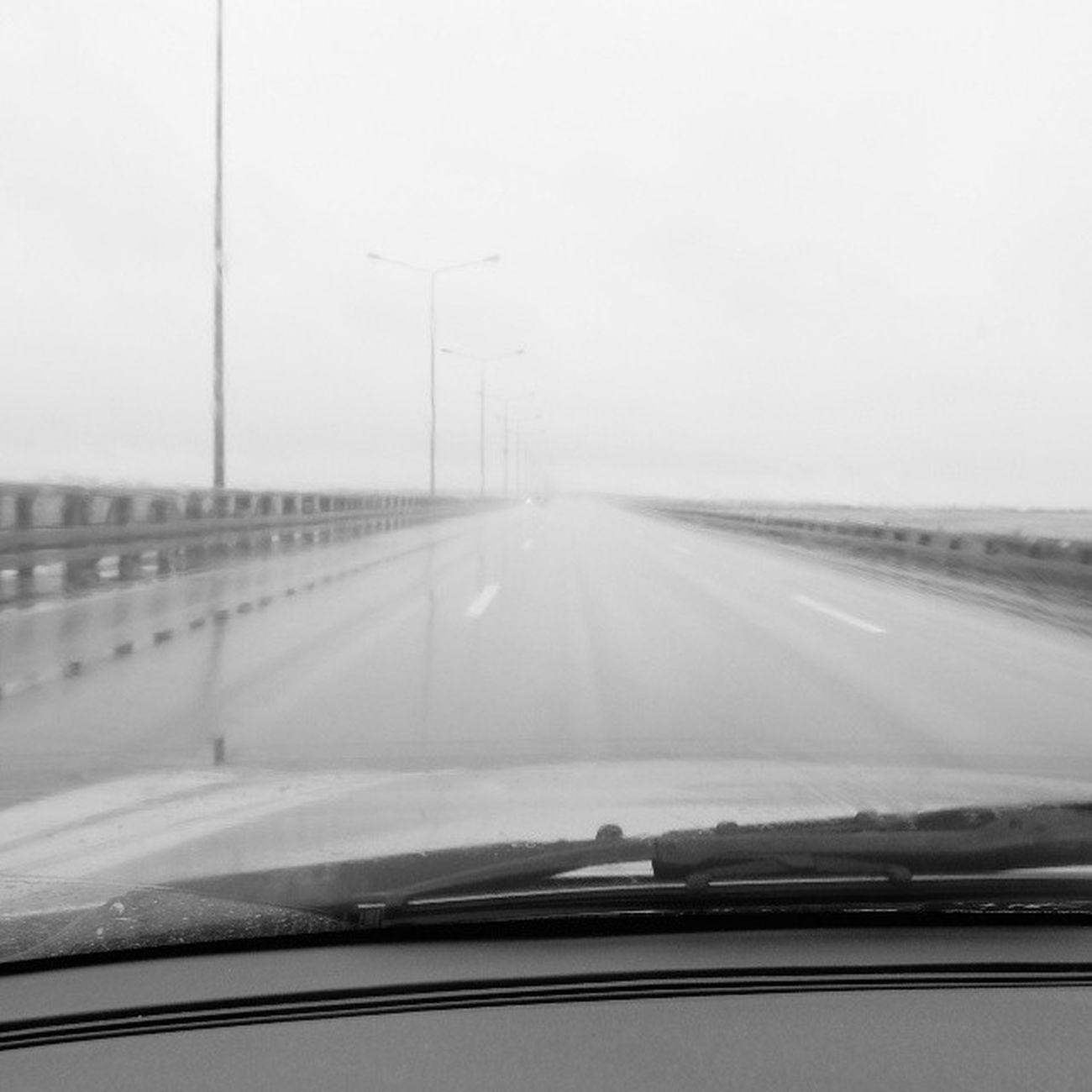 Дамба , Дождь , тоска . графично ! чб трасса vkpost road bw blacknwhite rain damb graphics frommycar страхиненависть