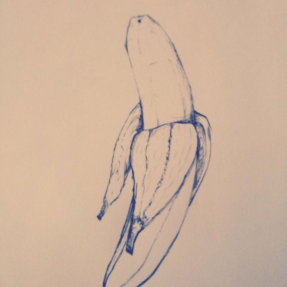 i'd like to eat apple and bananas <3 Asherroth Instagrammers Bestvacation Selfmade banana art @longboard_olli