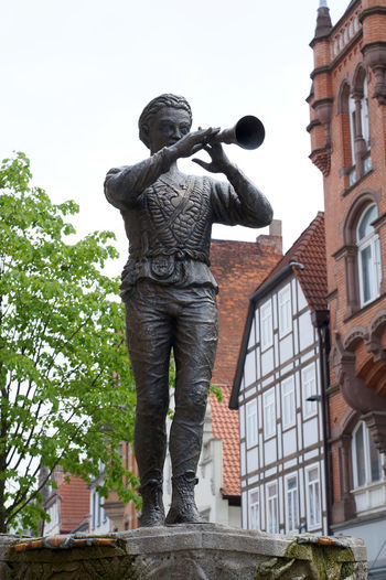 Pied Piper of Hamelin Architecture Art Day Fairy Tale Germany Hamelin Hameln Landmark Low Angle View Monument No People Pied Piper Pied Piper Of Hamelin Rattenfänger Sculpture Sightseeing Statue Travel
