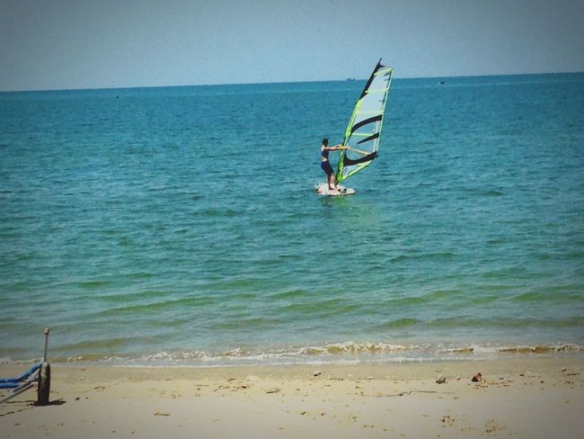 Gone for some windsurfing Windsurfing Being A Beach Bum Surfing