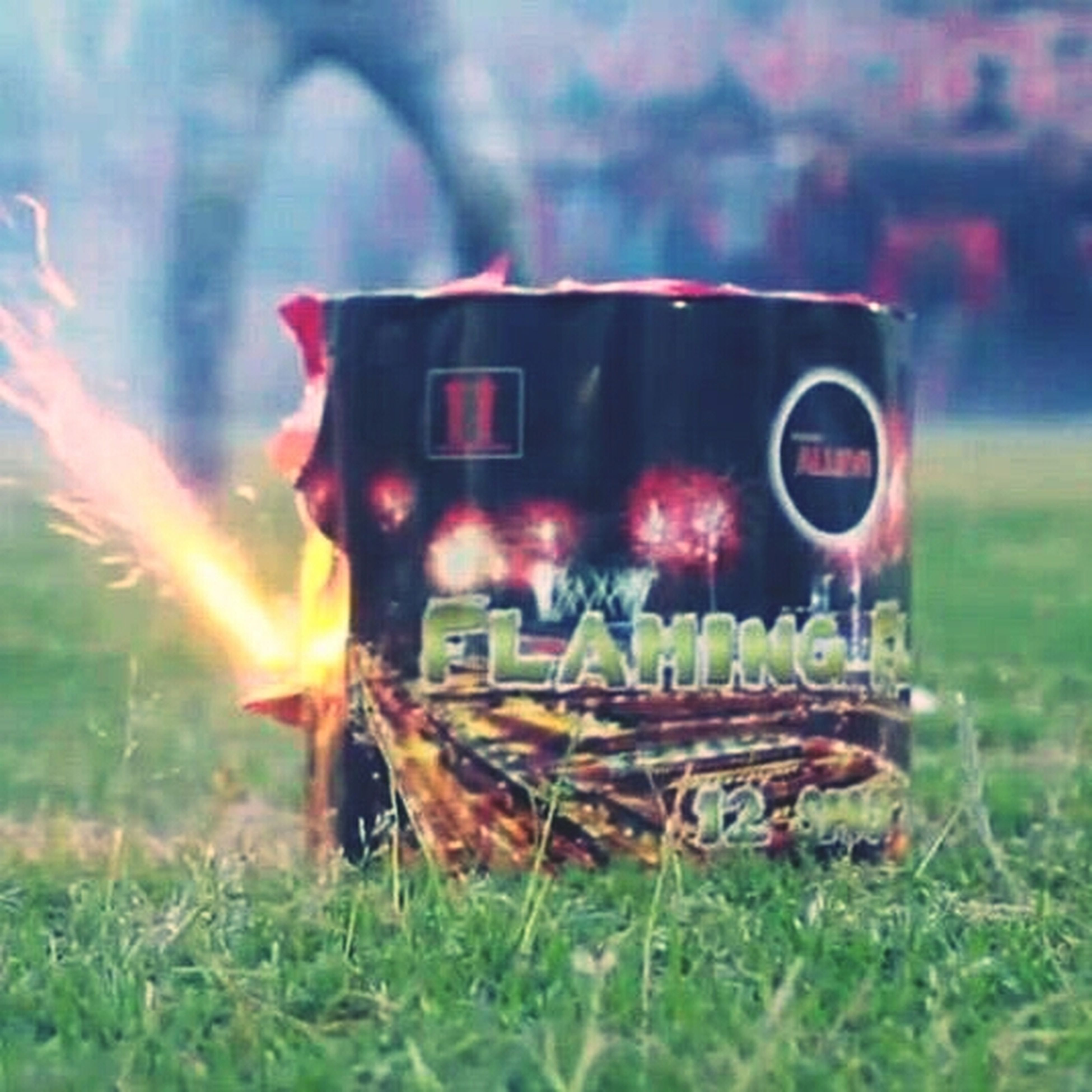 grass, field, land vehicle, burning, abandoned, mode of transport, transportation, car, flame, fire - natural phenomenon, close-up, grassy, obsolete, damaged, selective focus, focus on foreground, tractor, outdoors, heat - temperature, no people