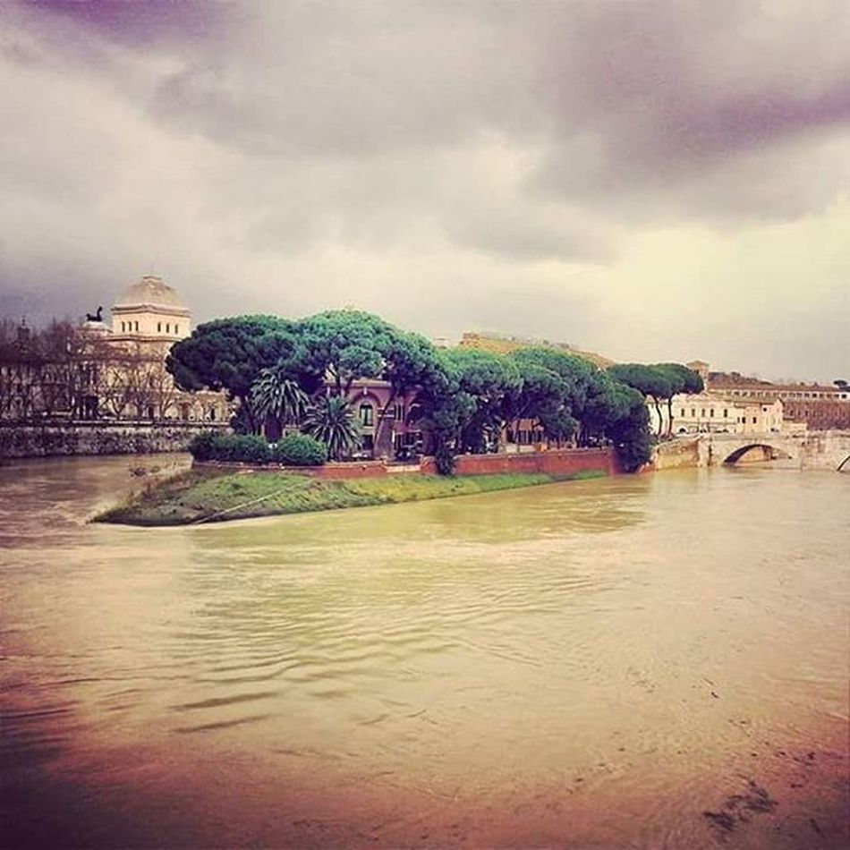 Roma Rome Isolatiberina Flood Tevere Piena
