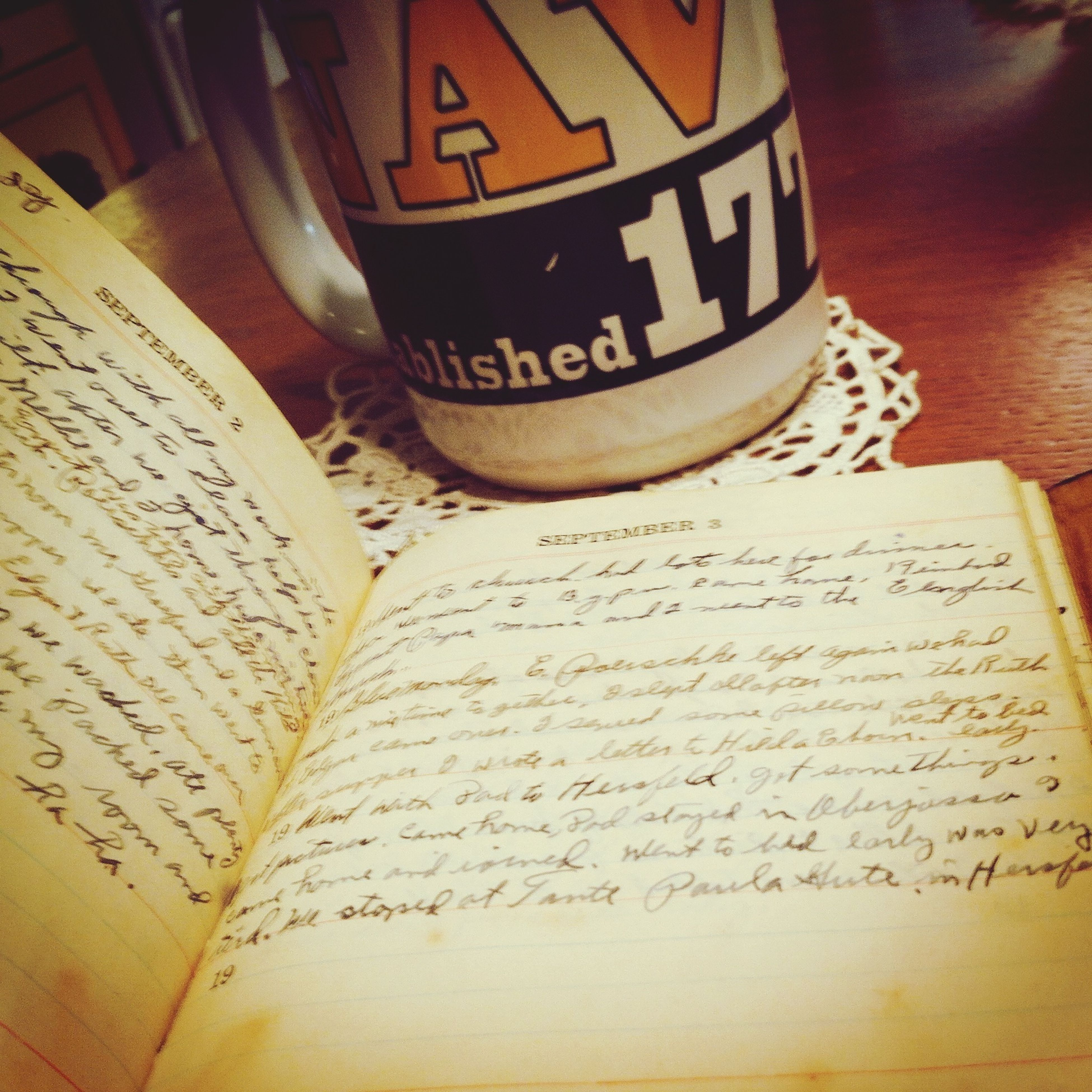 Pilgrimage Great-grandmother Journal Coffee Supporting Usn⚓