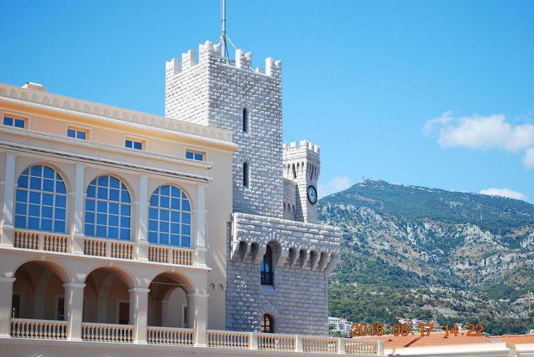 The Palais du Prince, Monaco. Home to the Royal Family of Monaco. Architecture Building Building Exterior Built Structure Exterior Mountain Palace Palacial Residential Building Tourism Travel Destinations