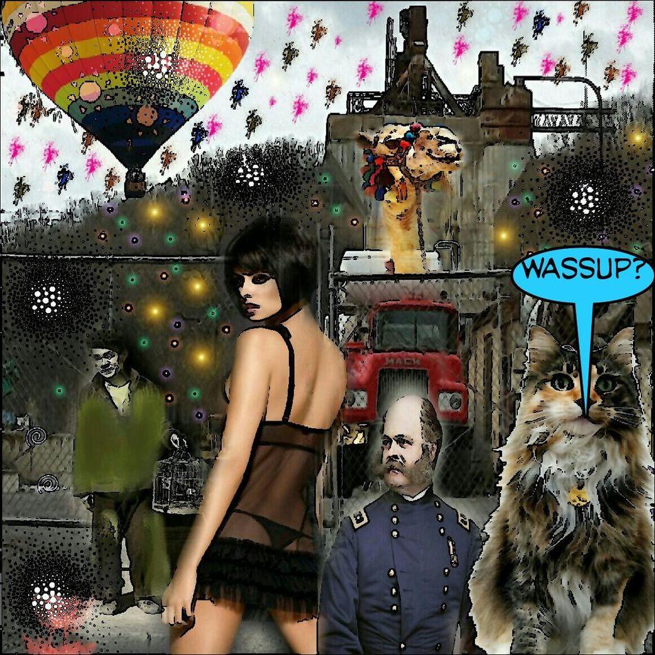 WASSUP? Collageartwork Colorsplash Surrealism Photography Collageoftheday Color Explosion