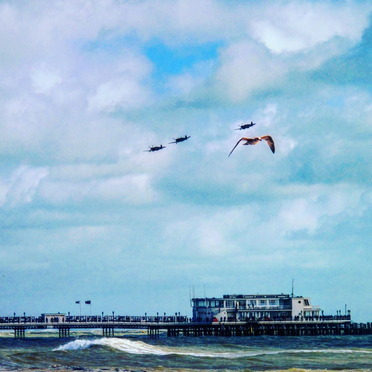 Worthing Worthing Pier Sea Worthingpier Spitfire Plane