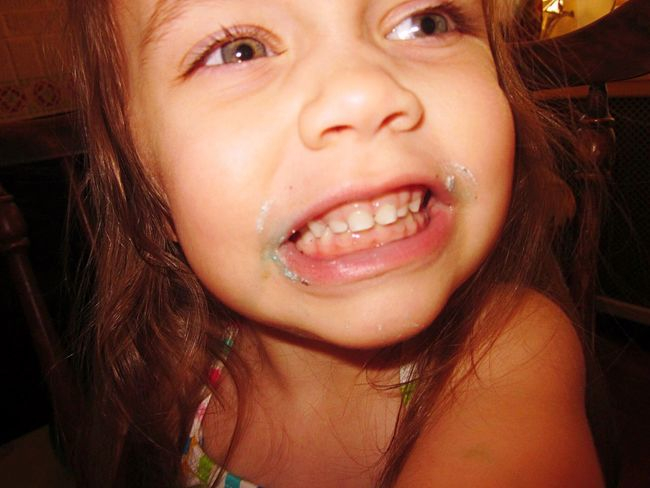 Birthday Festivities.. Real People Close-up One Person Little Girl Indoors  Birthday Birthday Cake Messy Face Niece