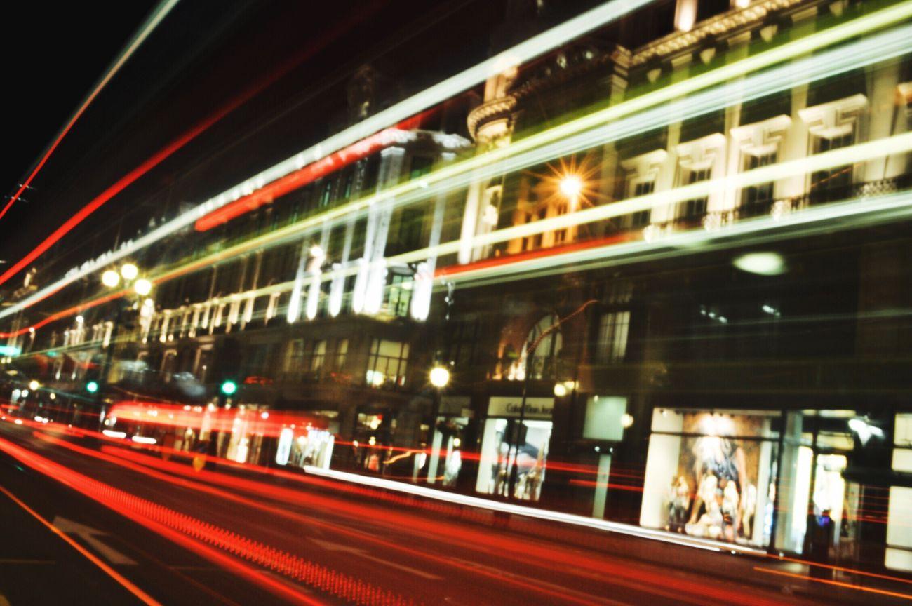 London Trip London Lifestyle London Night Speed Red City Traffic Londonbus Light