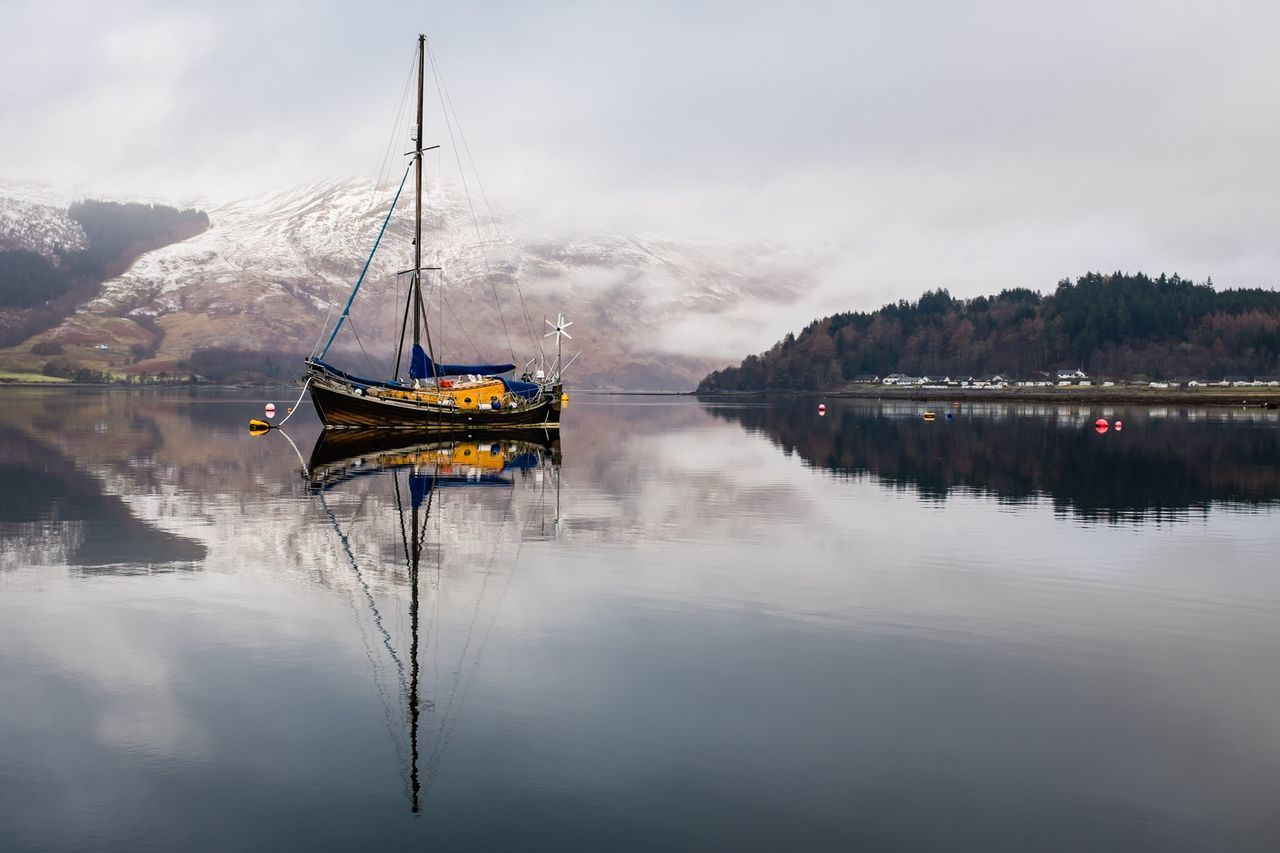 Beautiful stock photos of peaceful, Beauty In Nature, Boat, Cloud, Day