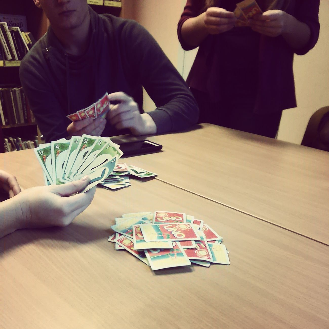 Playing UNO Jogging Relaxing