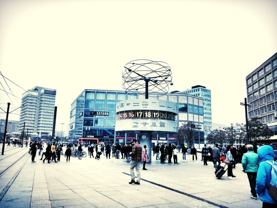 Public Public Places World Time Clock Weltzeituhr Berlin Alexanderplatz Sightseeing Time International Capture Berlin