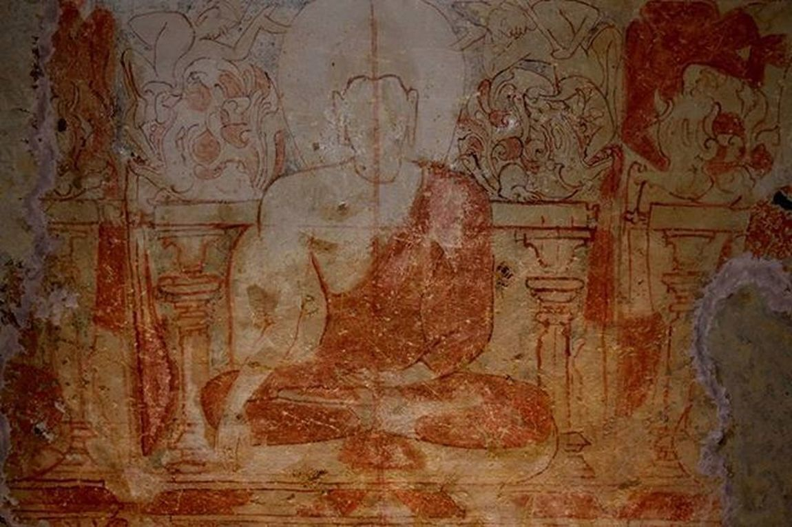 Travel Explore Sgnp Kanhericaves Monument Buddhist Influence Artandculture Wallpainting Buddha Unfinished Ceiling